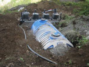 installation d'une fosse toutes eaux 12m3 compacto