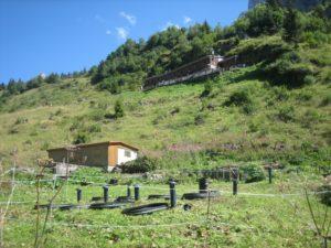 intégration d'une filière d'assainissement compact'o dans un paysage de montagne